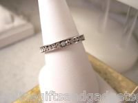 STAINLESS STEEL FASHION RING W/CZ'S - NEW SIZE 9