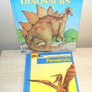 LOT OF 2 DINOSAUR BOOKS HARDCOVER - USED