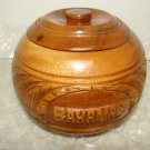 STUNNING WOOD JAR HAND MADE FROM BAHAMAS