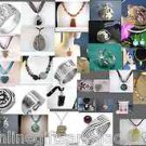 LARGE MIXED JEWELRY LOT -SEMI PRECIOUS GEMSTONES, SILVER & MORE