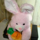 ADORABLE PINK BUNNY WITH HIS CARROT