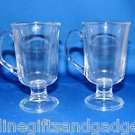 SET OF 2 A.R.C. MADE IN FRACE GLASS MUGS WITH HANDLES