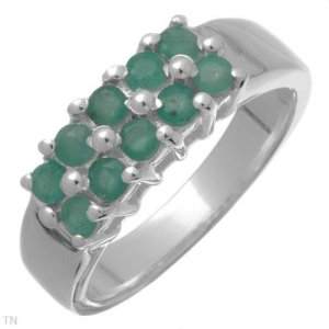 0.85ctw Genuine Emeralds Made of 925 Sterling silver