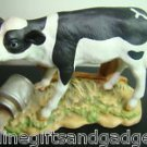 PORCELAIN BLACK/WHITE COW