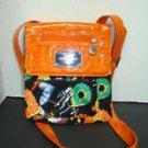 AKADEMIKS Akdmks Faux  CROC Leather Multi Signature Messenger Crossbody Bag