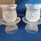 A MATCHING PAIR OF PARTYLITE GLASS VOTIVE CANDLE HOLDERS