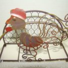 STUNNING WIRE CHICKEN NAPKIN HOLDER