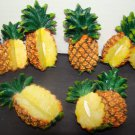 THIS AUCTION IS FOR TWO (2) PINEAPPLE MAGNETS ONE LARGE AND ONE SMALLER