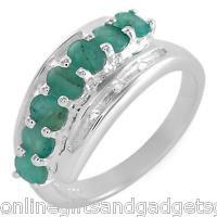 1.46ctw Genuine Emeralds &Topazes in .925 STERLING