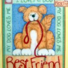 Candamar Embellished Cross Stitch ~ BEST FRIEND ~ Dog 8X10 - 2004