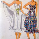 Vintage 5480 Ladies Lace Front Sundress & Shawl Pattern sz 14 UNCUT