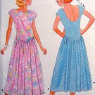 4804 Pullover Drop Waist Flared Dress Pattern UNCUT size 12-16 - 1987