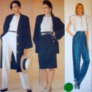 1385 Vogue ANNE KLEIN Coat Skirt Pants Pattern sz14 UNCUT -