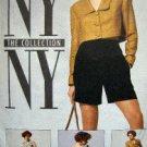 5358 New York Dress Cropped Jacket & Shorts Pattern sz 8 UNCUT - 1991