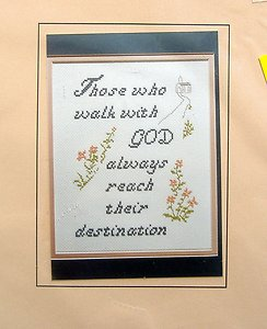 Patty Ann Cross Stitch Kit ~ WALK WITH GOD ~
