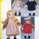 5784 Victorian RAG DOLL & Clothes Pattern UNCUT  - 1982