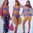 5103 Ladies Swimsuit Cover-up Shorts Bag Pattern - size 6-12 UNCUT