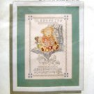 Simplicity Stamped Cross Stitch Kit ~  SNIPS & SNAILS ~ SAMPLER 10x14