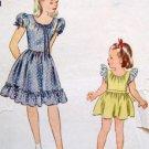 Vintage 1269 Little Girls Dress Pattern sz 10 - 1944