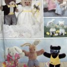 "8600 BUNNY & BEAR CLOTHES for 15"" & 16"" Animals Pattern UNCUT - 1988"