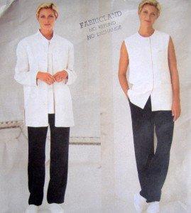 2280 Vogue DKNY Jacket Vest & Pants Pattern sz14-18 & 8-12 UNCUT