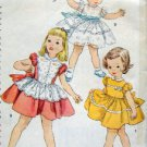 Vintage 4591 Adorable Little Girls Dress Pattern sz 3 - 1954