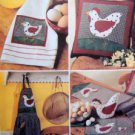 3685 Chicken Kitchen & Table Accessories Pattern  UNCUT