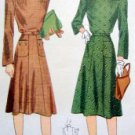 Vintage 3962 Button Down Shoulder Dress  size 14/32 Pattern