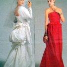 1801 Vogue BELLVILLE SASSOON Wedding Back Bustle Dress Pattern sz 8 UNCUT 1986