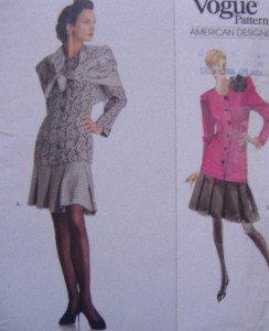 2187 Vogue ALBERT NIPPON Skirt Top & Scarf Pattern sz 6-10 UNCUT -1988