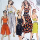 5371 Ladies Halter Sun Dress & Jumpsuit Patterns sz 10 & 12 UNCUT - 1991