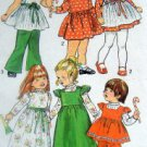 Vintage 5993 Toddler Girls Dress Smock Pants Pattern sz 3  UNCUT - 1973