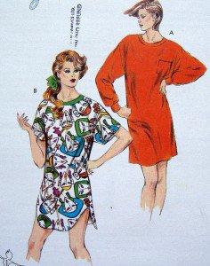 1588 Kwik Ladies Nightshirts Pattern sz XS-L UNCUT - 1986