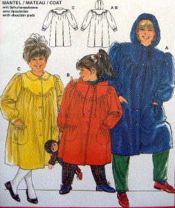 6170  Burda Little Girls Coats Pattern sz 2-10  UNCUT