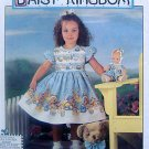 7496 Daisy Kingdom Toddler Dress & Doll Pattern sz6mo-2 UNCUT - 1997