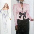 Vintage 8951 Gown Dress & Jacket Pattern sz 12 Bust 34  UNCUT - 1988