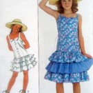 8598 Girls Ruffled Dress Pattern sz7-10 Belle France Schaffhausen UNCUT - 1988