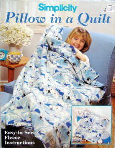 Simplicity FLEECE FABRIC PILLOW in a QUILT Pattern Leaflet