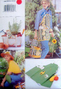 Garden Apron  Bucket Liner  Knee Pads Accessories Pattern UNCUT -1996