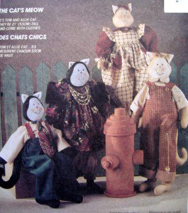 "5790 Cats Meow CAT DOLLS & CLOTHES Pattern 21"" UNCUT - 1992"