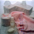 8316 Tissue & Paper Roll Covers House Hat Pattern UNCUT   - 1982