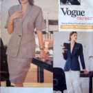 VOGUE 2296 ANNE KLEIN Jacket Skirt Pants PATTERN SZ10-12 UNCUT - 1989