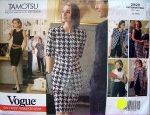 2920 Vogue TAMOTSU Wardrobe Pattern sz12-16 UNCUT - 1992