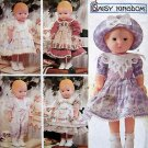 "7497 Daisy Kingdom Doll Clothes Pattern  for 17"" Doll  UNCUT - 1997"