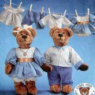 7473 Stuffed Bears & Clothes Pattern   UNCUT - 1991