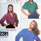 2281 VOGUE American Designer SCOTT BARRIE Blouses Pattern sz 14 UNCUT
