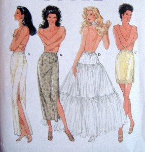 9027 Ladies Slips & Petticoat Pattern sz XS-XL 6-24 UNCUT