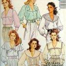 4759 Vintage Ladies Feminine Blouses Pattern sz 12 Bust 34 UNCUT