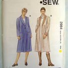 2984 Kwik Ladies FLARED COAT SHAWL COLLAR Pattern sz XS-XL UNCUT