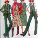 6254 Vintage Ladies Wardrobe Jacket Pants Skirt Vest Pattern size12 UNCUT